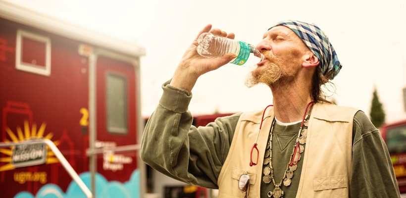 Emergency water and lifesaving care for homeless