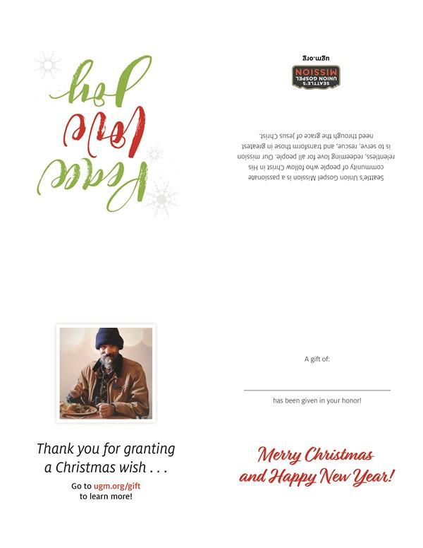2018 Christmas Honor Card